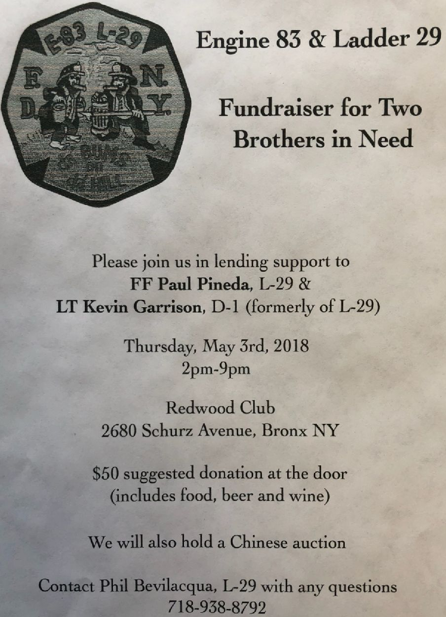 Engine 83 and Ladder 29 Fundraiser