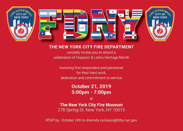Please RSVP at diversity.inclusion@FDNY.nyc.gov  , FDNY Please come in Class A.