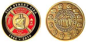 23rd Street Fire Memorial Challenge Coin