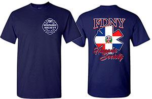 Men's Dominican Republic Shirt - FDNY Hispanic Society